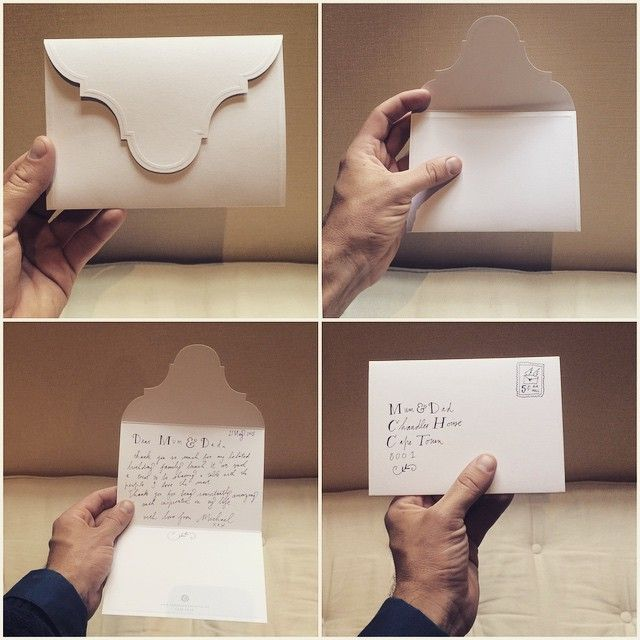 This Card-Envelope is the first piece of stationery that I designed. It pays homage to the simplicity and beauty of the Cape-Dutch Gable form.