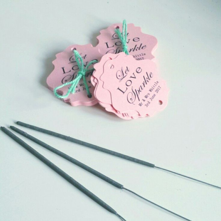Lovely pearlescent pink sparkler tags. I love working with pearlescent card, so many colours to choose from!