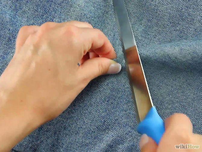 Titel afbeelding Make Distressed Jeans Step 5