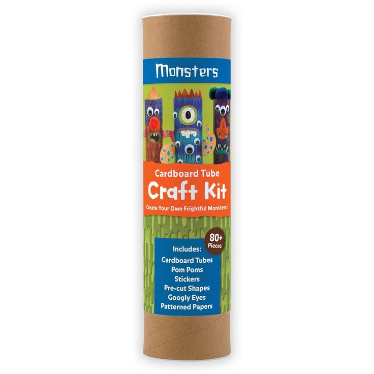 Monsters Cardboard Tube Craft Kit Cardboard Tube Craft Kits Mudpuppy Mudpuppy