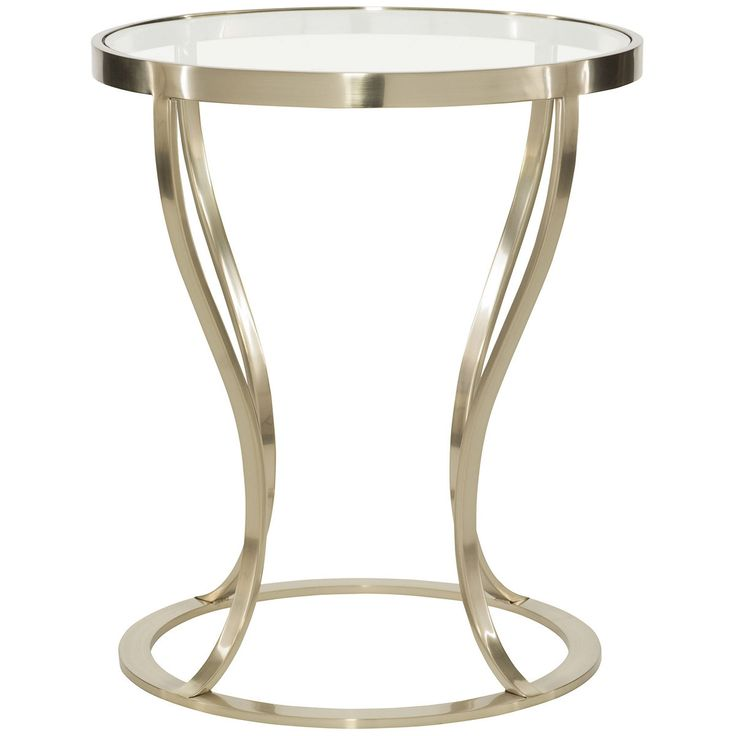 Bernhardt Miramont Round Metal Side Table