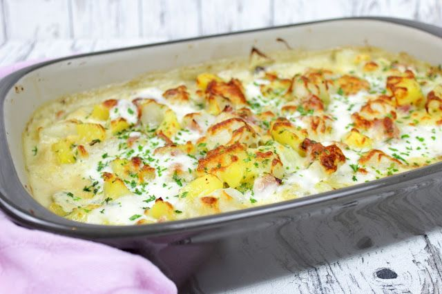 Rezepte mit Herz: Kartoffel - Kohlrabi - Auflauf ♡