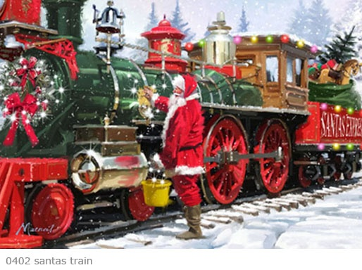 Now this is what a Christmas engine should look like!