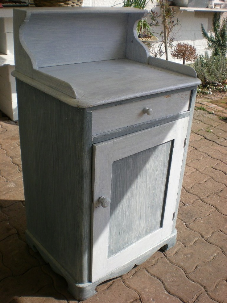Bedroom Nightstand Picture 2 of 2 Whitewashed Chippy Shabby Chic French Country Rustic Swedish decor idea