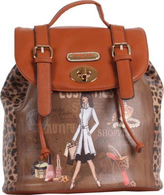 Nicole Lee Gitana Vintage Print Backpack Cosmetics - via eBags.com!