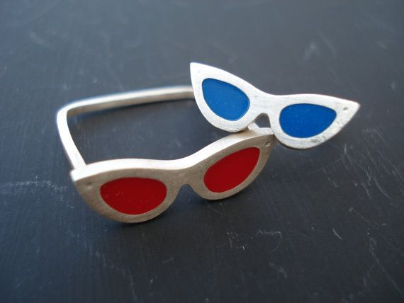 Two Silver Sunglasses Rings, Silver Colorful Rings,Midi Ring, Summer in Your Hands Classic Style Sunglasses,Greek Summer Rings,Resin Jewelry