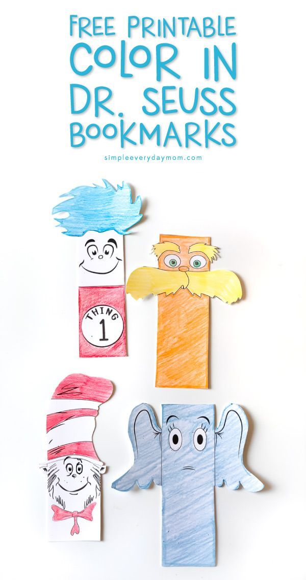 Free Dr Seuss Printable Bookmarks Young Readers Will Treasure
