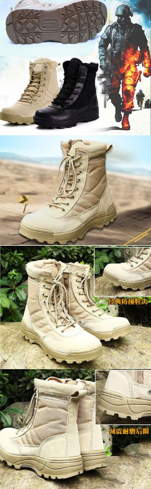 Tactical Footwear 177897: 7158 Men S Special Forces Military Boots Us Army Boot Swat Tactical Combat Shoes -> BUY IT NOW ONLY: $31 on eBay!
