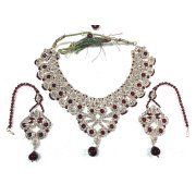 Mogul Indian Necklace Earrings Set Dark Red White Stones Bollywood Fashion Jewelry Image 2 of 2  https://www.walmart.com/search/?query=mogul%20interior%20JEWELRY