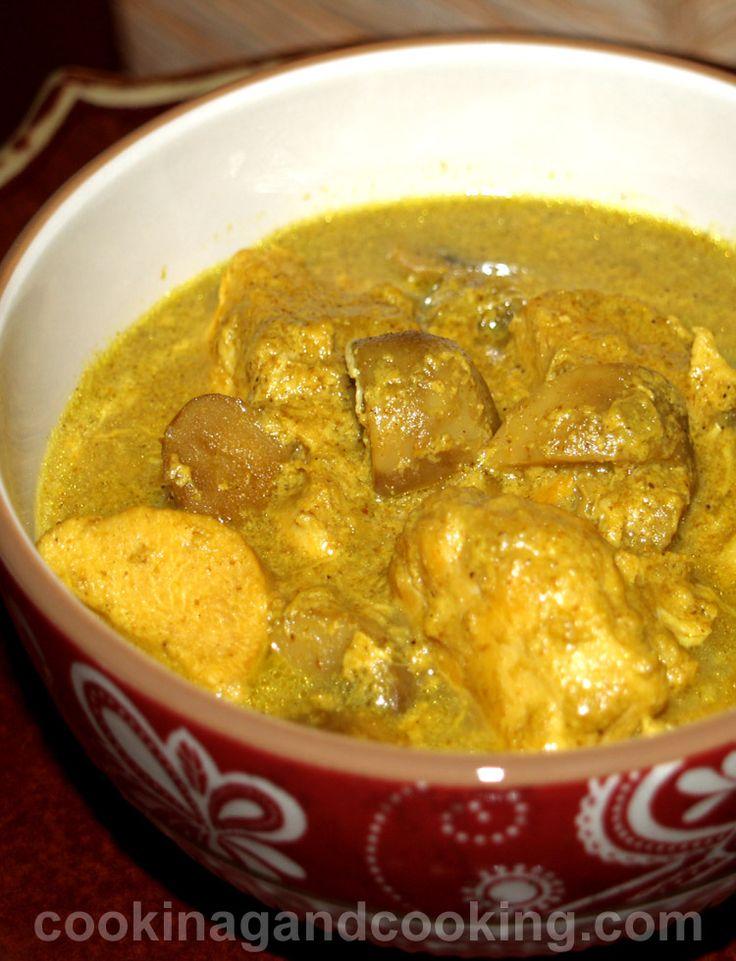 Curried Chicken Mushroom Stew Recipe