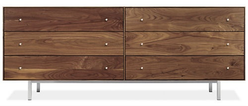 Hudson Dressers with Steel Base - Dressers - Bedroom - Room & Board: 28H Six Drawings, 72X20 28H, Hudson Dressers, Bedrooms Dressers, Solid Wood, Master Bedrooms, Steel Based, 72W 28H, Six Drawings Dressers