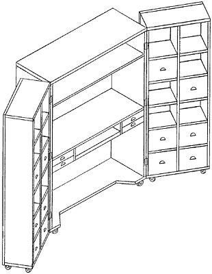 Схема шкаф-книжка для рукодельницы