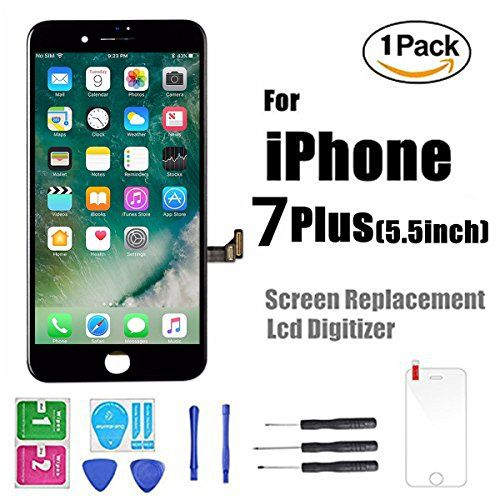 iPhone 7 Plus Screen Replacement, LCD Display Screen Digitizer Frame with Repair Kit for iPhone 7 Plus 5.5 inch  https://topcellulardeals.com/product/iphone-7-plus-screen-replacement-lcd-display-screen-digitizer-frame-with-repair-kit-for-iphone-7-plus-5-5-inch/  iPhone 7 Plus(5.5) inch Screen Replacement Black only For iPhone 7 Plus(5.5) (A1661 A1784 A1785) With tools for Assembly, Without camera and homebutton, for camera and home button ,you need use your original materials