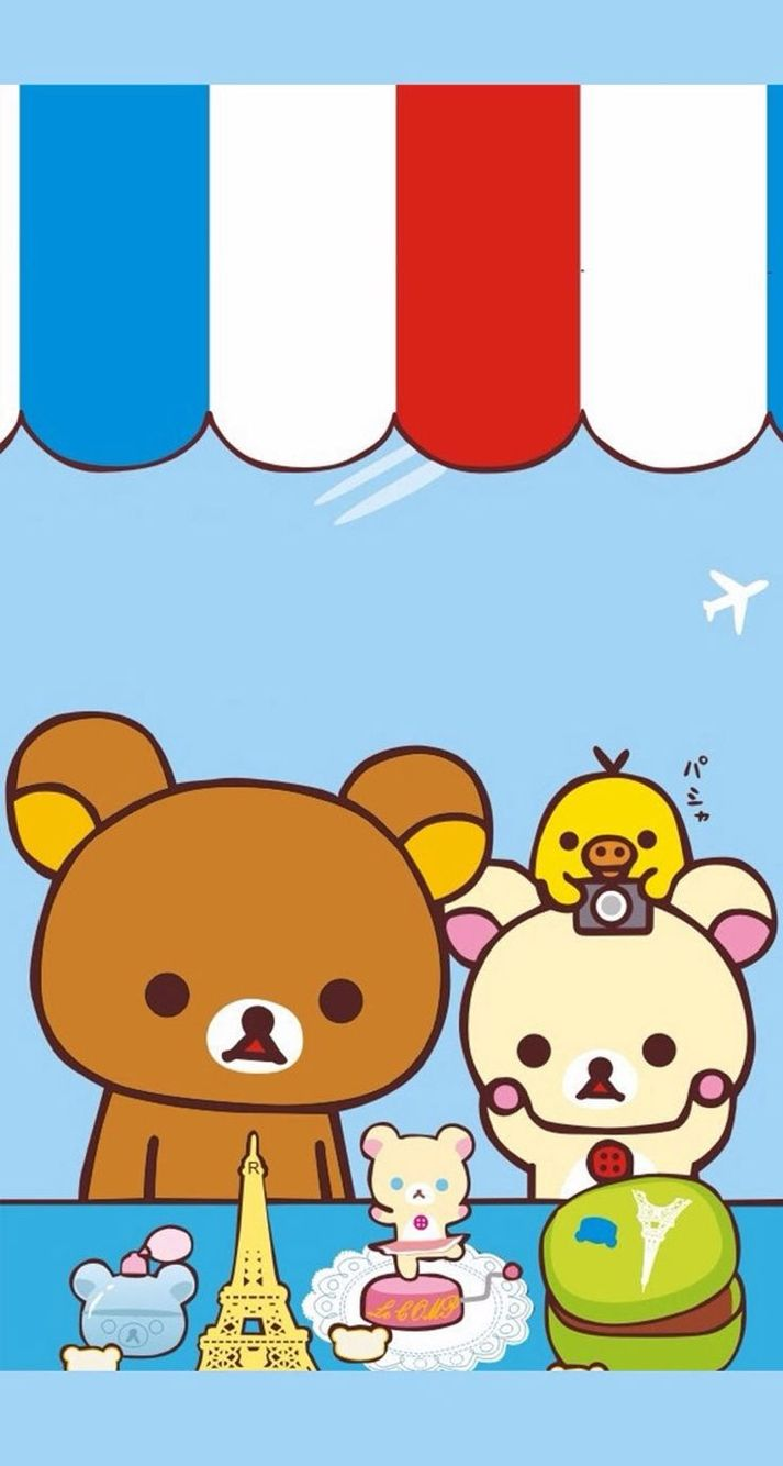Rilakkuma And Kiiroitori Phone Wallpaper
