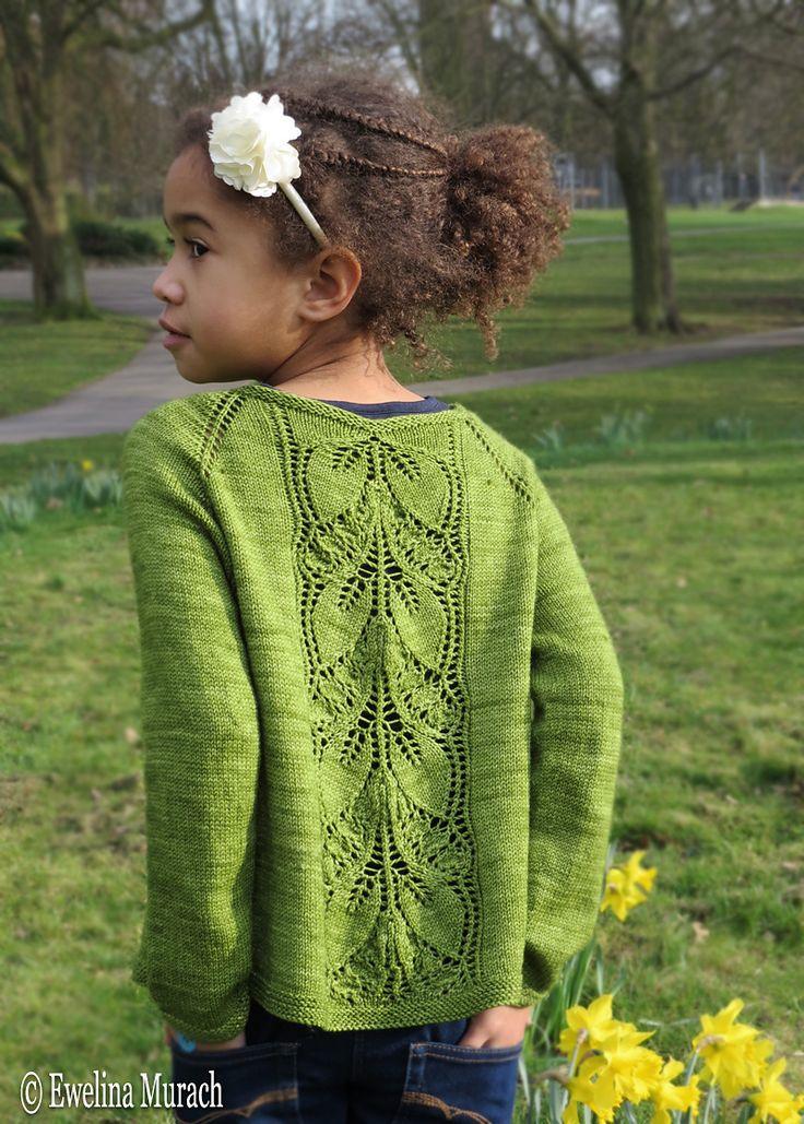 Ravelry: Leaf Lace Cardigan (kids) by Ewelina Murach