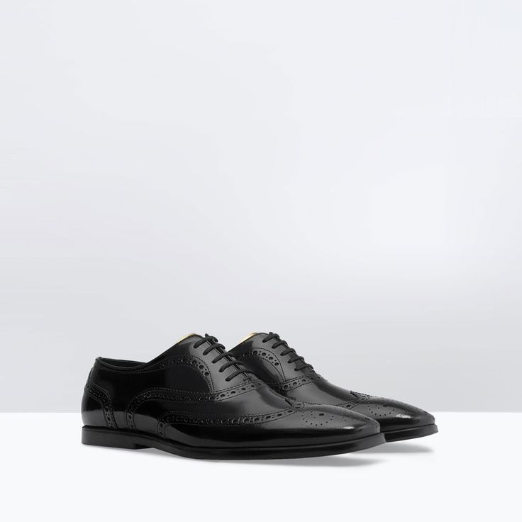 ZARA - SALE - LEATHER OXFORD SHOE WITH DETAILING