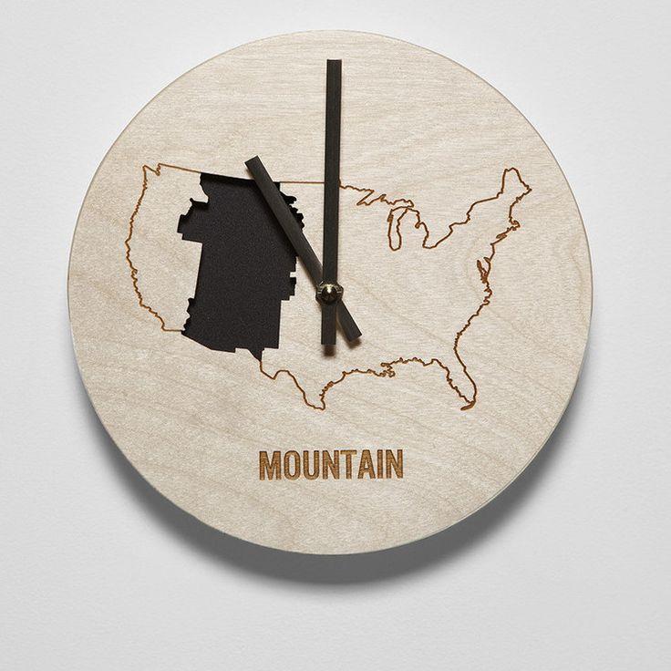 "8"" Mountain Time Zone Clock"