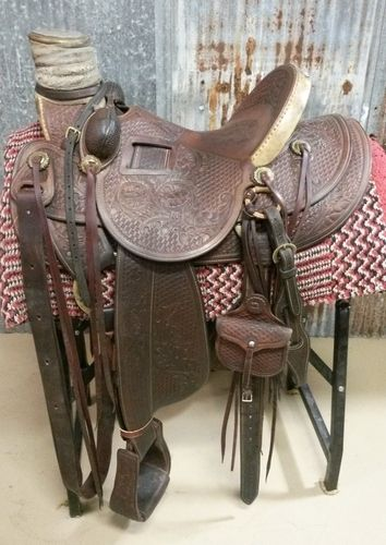 KEN TIPTON of Tips Saddlery Custom Wade Saddle for Sale - For more information click on the image or see ad # 41505 on www.RanchWorldAds.com
