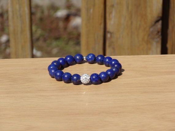 Lapis Bracelet Lapis Stretch Bracelet Blue by AccessoriesbyAdriane, $22.50