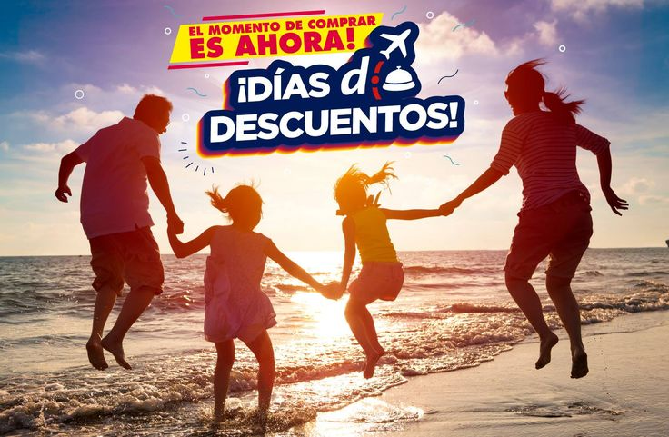 El momento de comprar #EsAhora! Aprovechá los #DíasDDescuentos y viajá al lugar que soñaste en: http://bit.ly/DDDescuentos2016