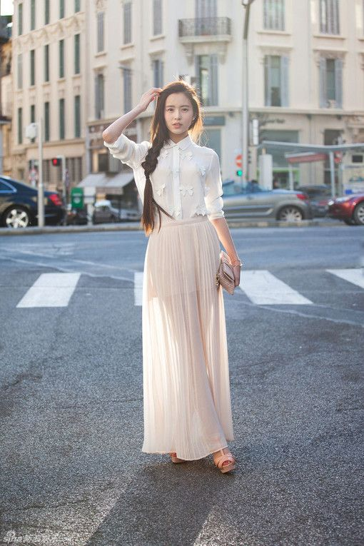 40 best images about Maxi Skirt Fashion on Pinterest | Long skirts ...