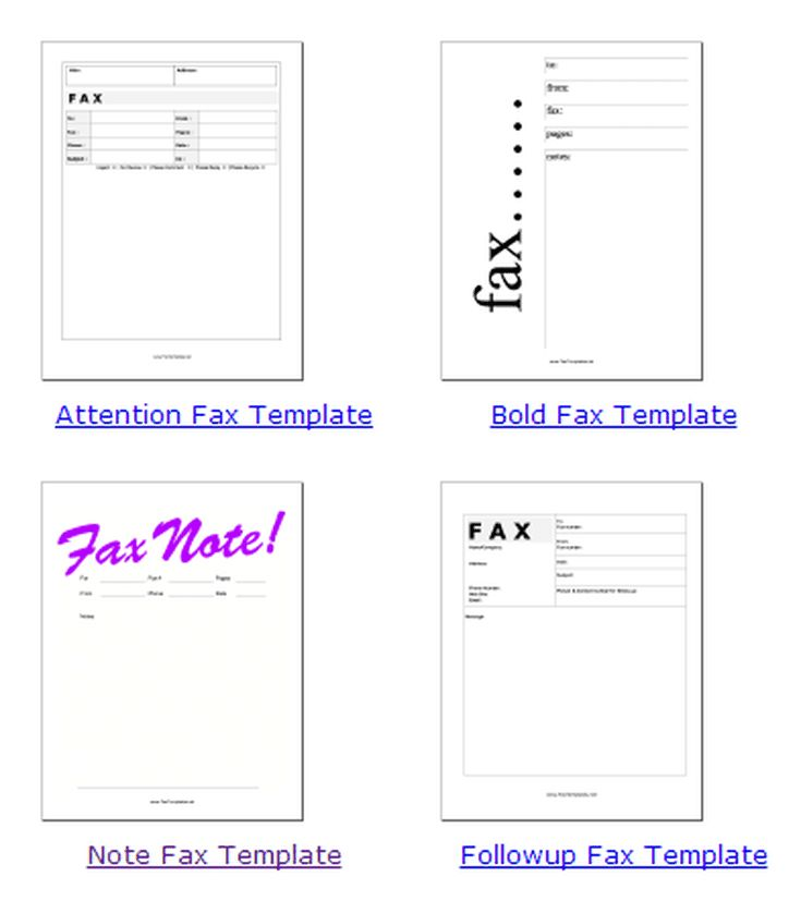 Fax Templates: FaxTemplates.net Collection