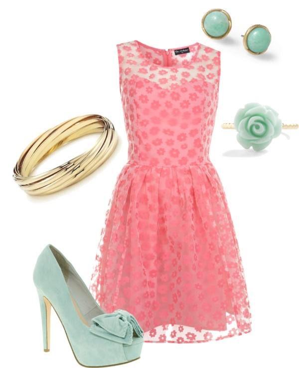 Pink & Teal night out on the town, created by emilyisenberg on PolyvorePink Teal, Colors Combos, Fashion, Style, Floral Burning, Outfit, Colors Combinations, Prom Dresses, The Dresses