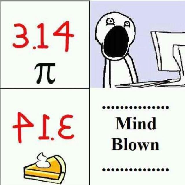 Math nerd humor.
