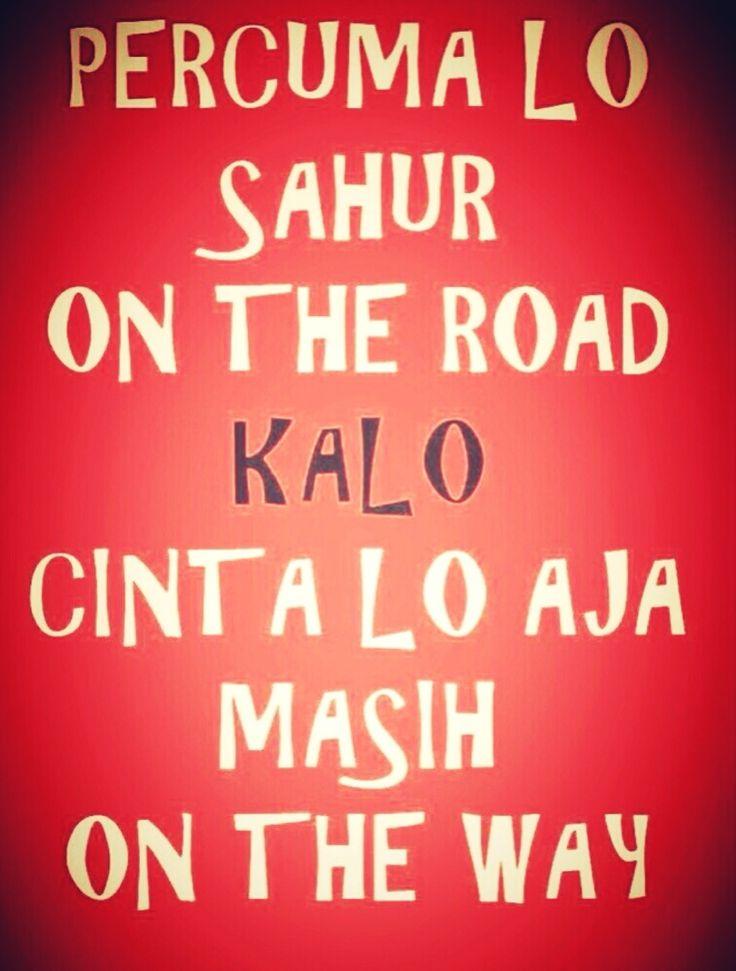 Percuma sahur on the road