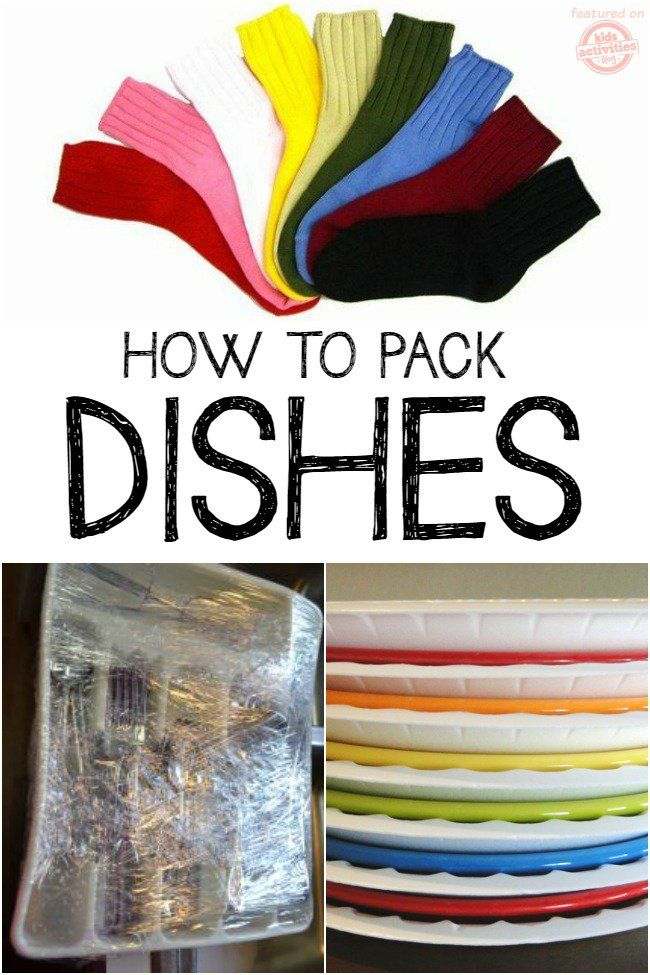 """Moving Hacks and Tips You Must Know: If you are moving with kids you will appreciate these moving tips that will make your transition out of your old home and into your new one easier! Use plastic wrap to """"pack"""" utensils, pots and the rest of the kitchen. Plastic plates between china plates I Packing Tips"""