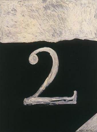 Colin McCahon - No.2	/ oil on hardboard/ signed and dated April 1965