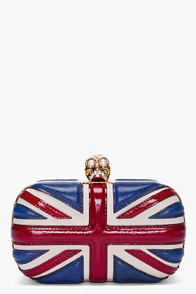 Alexander McQueen Classic Britannia Skull Box Clutch
