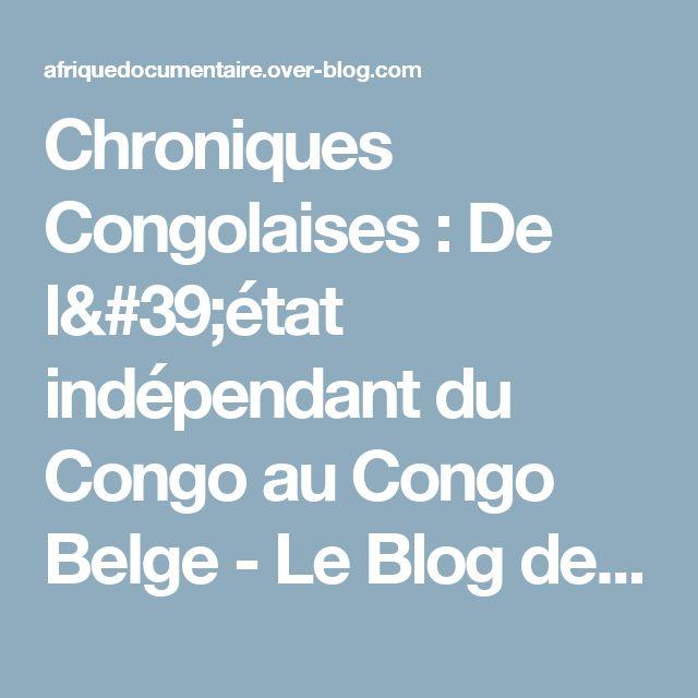 Chroniques Congolaises : De l'état indépendant du Congo au Congo Belge - Le Blog des Documentaires sur l'Afrique