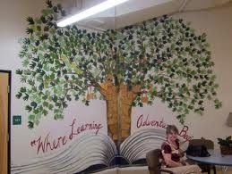 school wall murals - Google Search