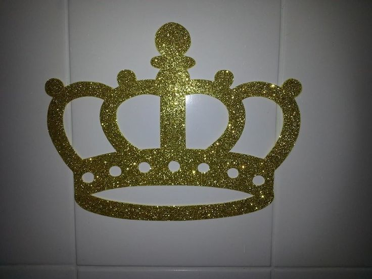 Coroa confecciona em EVA Gliter ou Lisa para decoração de festas, como painel de balões, muro inglês etc.