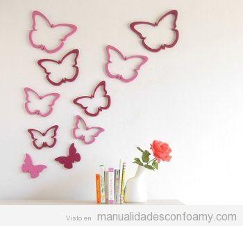 Las 25 mejores ideas sobre mariposas en goma eva en - Mariposas para decorar paredes ...