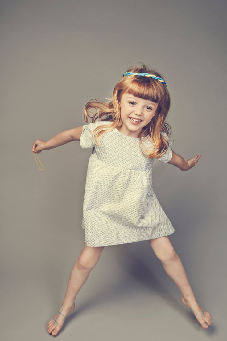 Tiny dot dress from LEOCA Paris for spring 2015 girlswear