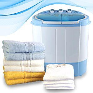 Pyle PUCWM22 Electric Portable Washer & Spin Dryer, Mini Washing Machine and Spin Drying Twin Tub Washer for Dorms, College Rooms, RV Camping Swim Suit Spinner Dryer, White: Amazon.ca: Home & Kitchen