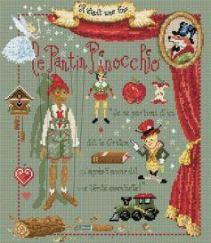 """Madame la fée - """"Le Pantin Pinocchio""""  155 x 185 points"""