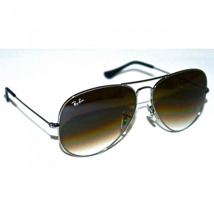 Ray-Ban Sunglasses Mens Aviators | RB3025 | 004/51 | Brown Gun Metal