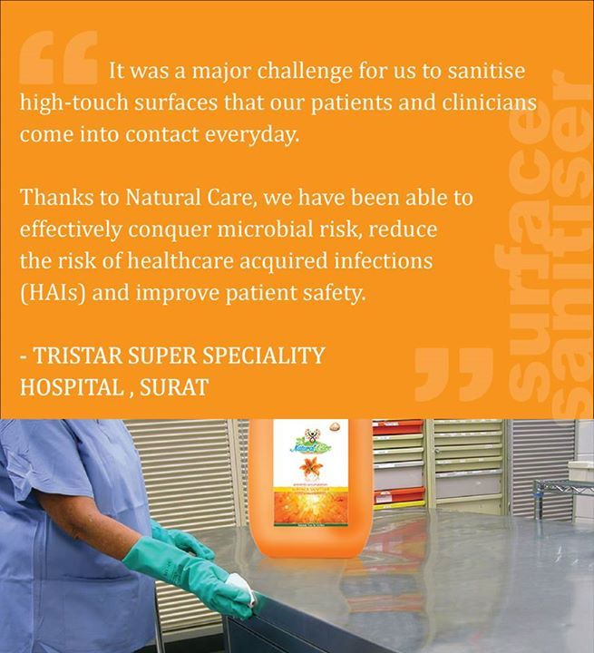 #surface #sanitizer #microbial #risk #reduce #HAIs #increase #patient #safety #Tristan #hospital #surat