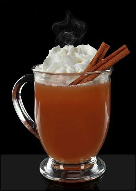 ... hot apple cider - ¾ cup hot rum - Sweetened whipped c… | Pinteres