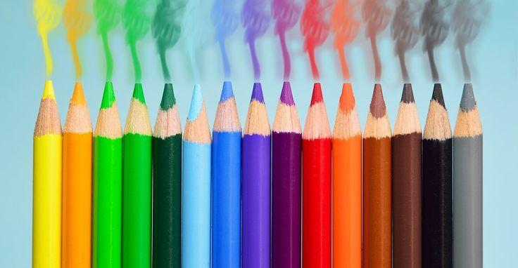 Pennen, Rook, Kleurrijke, Gele, Oranje, Blauwe, Groene