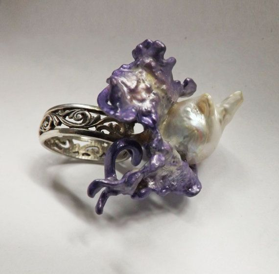 Contemporary Sterling Silver Ring Baroque by BonTonContemporary