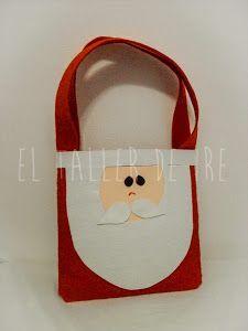 DIY: Bolsas de fieltro para Navidad   Manualidades