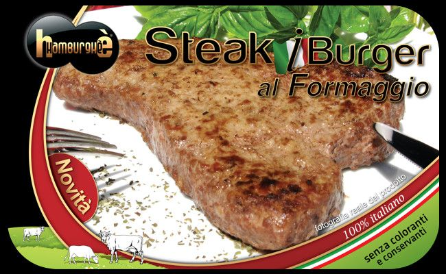 Packaging Steak iBurger al Formaggio