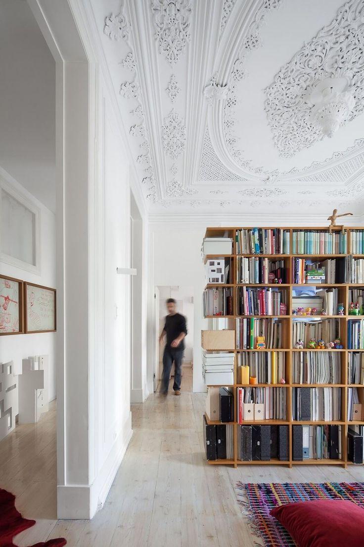 Historic Lisbon Apartment Preserves Ornate Details