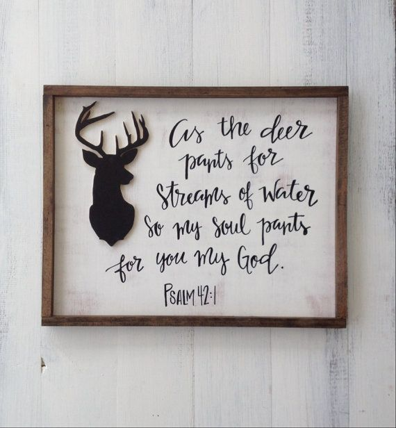 Psalm 42:1 As the deer pants bible verse by ImperfectDust on Etsy