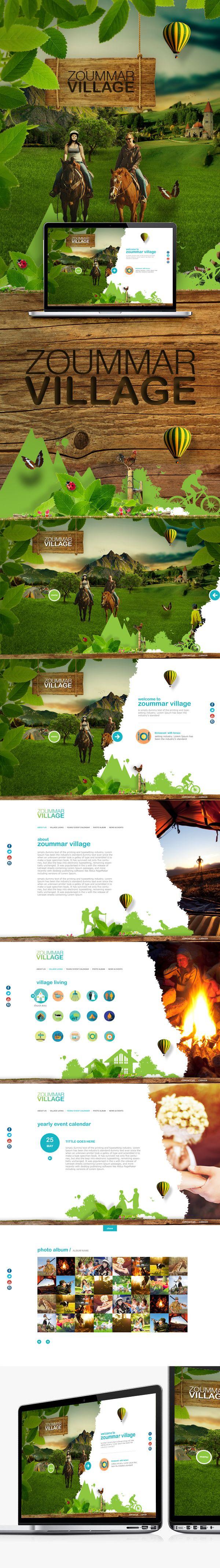 Zoummar Village on Behance