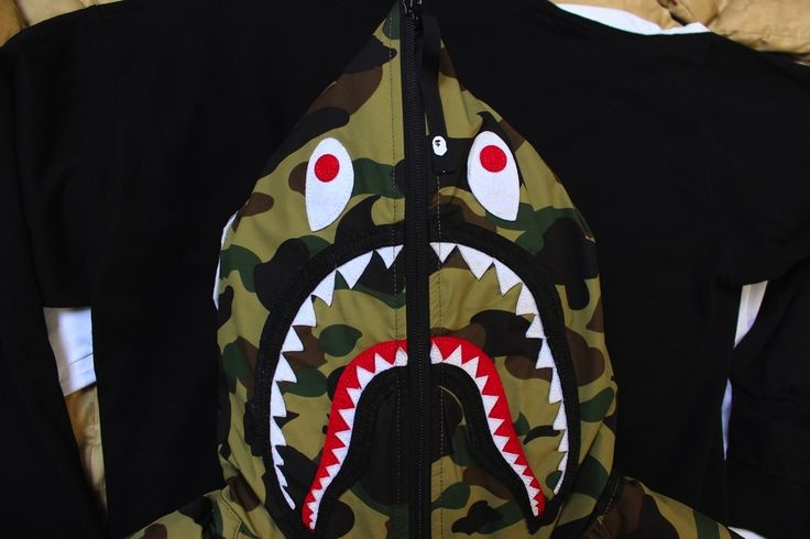 Bape 1st Camo Gore Windstopper Shark Down Jacket (Green) Size M $1250 - Grailed